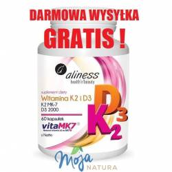 Witamina K2 MK-7 100µg z Natto + D3 60kaps MEDICALINE