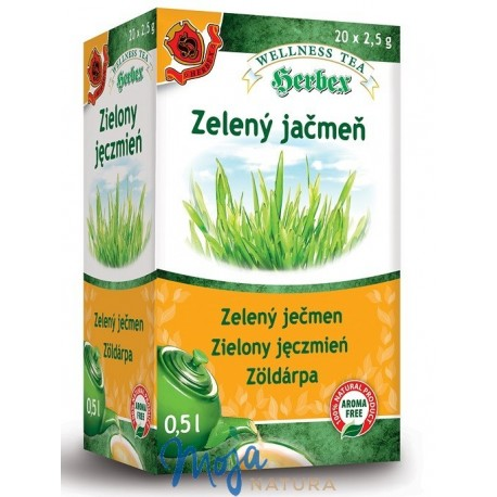 Zielony jęczmień 20 saszetek HERBEX