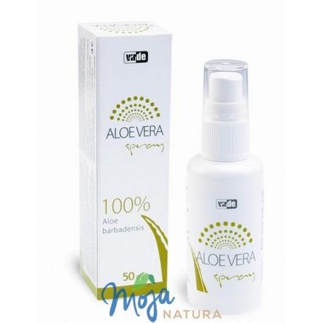 ALOE VERA spray 100% Aloe Barbadensis 50ml VIRDE