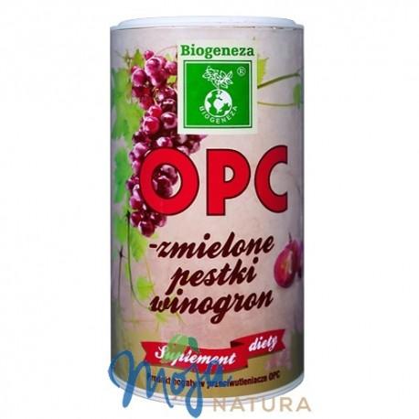 OPC zmielone pestki winogron 200g BIOGENEZA