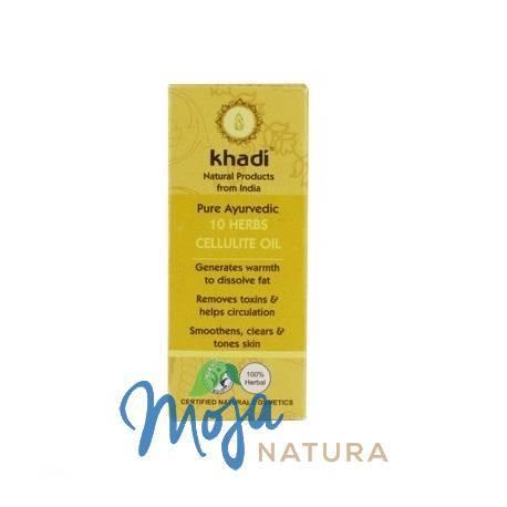 Antycellulitowy olejek z 10 ajurwedyjskich ziół 10ml KHADI