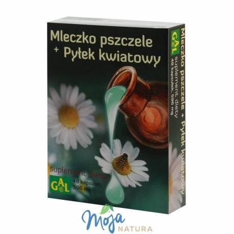 MLECZKO PSZCZELE + PYŁEK KWIATOWY 48kaps GAL