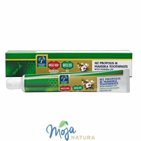 Pasta do zębów na bazie Miodu Manuka MGO® 400+, Propolisu BIO30™ i olejku Manuka 100g MANUKA HEALTH