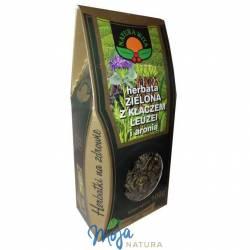 Herbata zielona z kłączem leuzei i aronią 100g NATUR-VIT