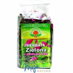 Herbata zielona z płatkami róży 100g NATUR-VIT
