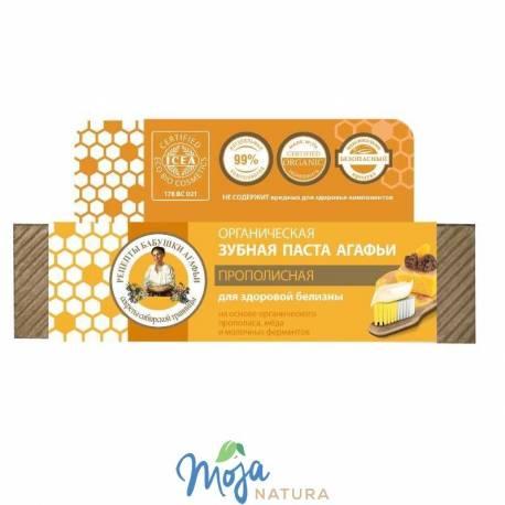 Pasta Do Zębów Organiczna – Propolisowa – Zdrowe Wybielanie 75ml BABUSZKI AGAFII