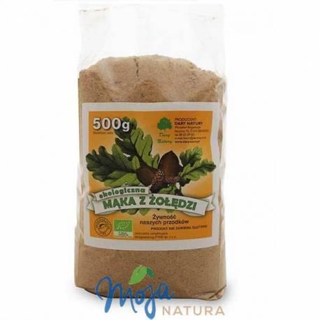 Mąka z żołędzi bez glutenu ekologiczna 500g DARY NATURY