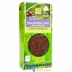Nasiona lnu odtłuszczone ekologiczne 100g DARY NATURY