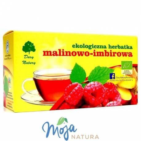 Malinowo-imbirowa Eko herbatka 40g DARY NATURY