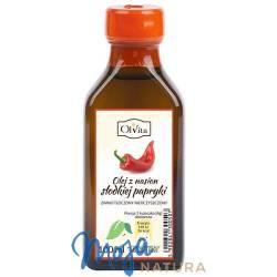 Olej z nasion słodkiej papryki zimno tłoczony nieoczyszczony 100ml OLVITA