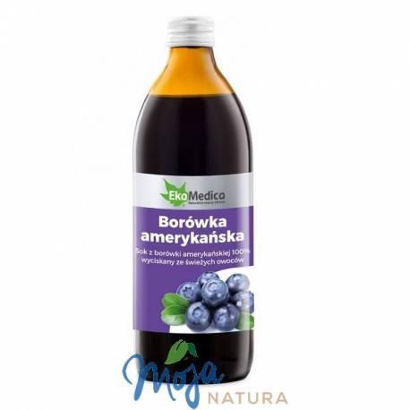 Borówka Amerykańska sok 500ml EKAMEDICA
