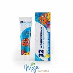 Pasta do zębów dla dzieci bez Fluoru 32 Perły Jabłko 3-6lat 60g MODUM