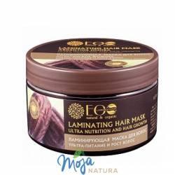 Maska do włosów Laminująca olej jojoba, kompleks ceramidów, kwasów owocowych 250ml ECO LABORATORIE