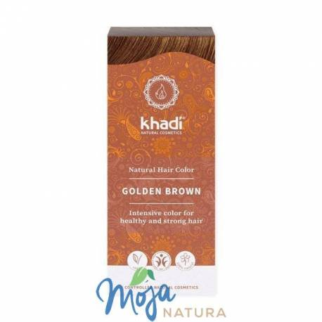 Naturalna Henna Złoty Brąz 100g KHADI