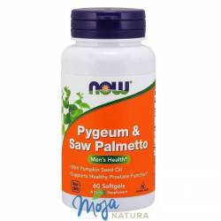 Pygeum & Saw Palmetto (Śliwa afrykańska & Plama sabałowa) 60kaps NOW FOOD'S