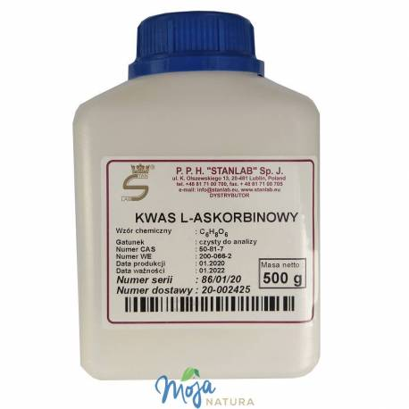 Kwas L-askorbinowy Witamina C Czysta do analiz 500g STANLAB