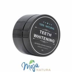 Proszek do wybielania zębów z Aktywnym Węglem Black for White 30g BIOMIKA