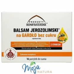 Balsam Jerozolimski® na GARDŁO bez cukru 16pastylek BONI FRATRES
