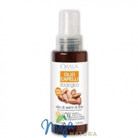 Olej - Spray Do Włosów Z Olejkiem Z Siemienia Lnianego 100ml OMIA